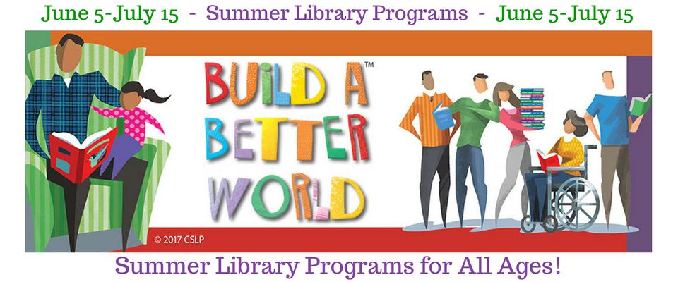 Summer Library Programs begin June 5!