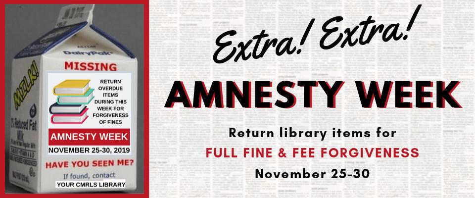 Amnesty Week November 25, 2019