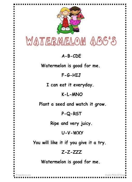 Watermelon ABCs